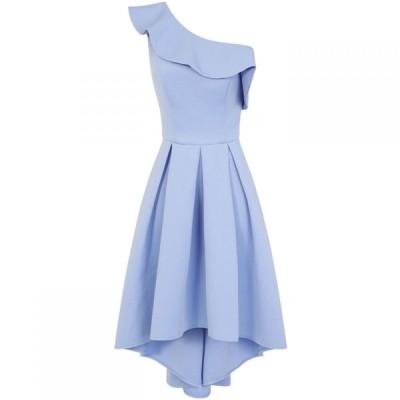 チチ Chi Chi レディース パーティードレス ワンピース・ドレス Asymmetric Dip Hem Dress Blue