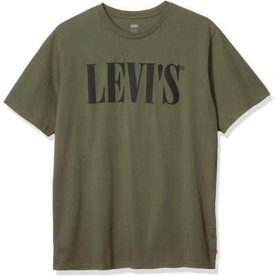 リーバイス リラックスグラフィックTシャツ 90'S SERIF ロゴ メンズ 69978-0028 OLIVE NIGHT US M (日