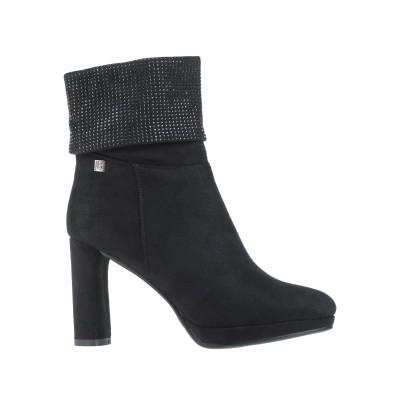 LAURA BIAGIOTTI ショートブーツ ブラック 40 紡績繊維 ショートブーツ