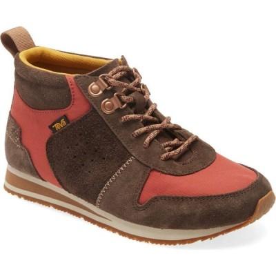 テバ TEVA レディース スニーカー シューズ・靴 Highside 84 Mid Top Sneaker Chocolate/Tandoori Spice