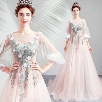 パーティードレスウェディングドレスフォーマルドレス結婚式二次会ロングドレス大きいサイズお呼ばれドレス披露宴ドレスライン20代30代40代