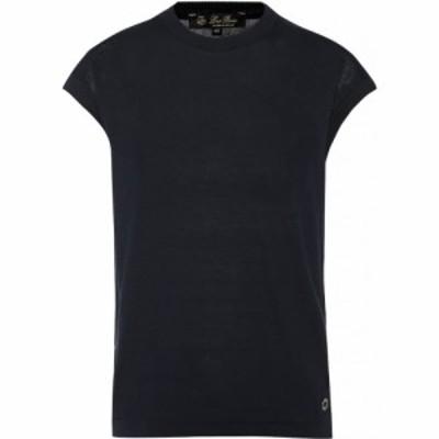 ロロピアーナ Loro Piana レディース Tシャツ トップス Ventotene Silk And Cotton T-Shirt Dark Blue