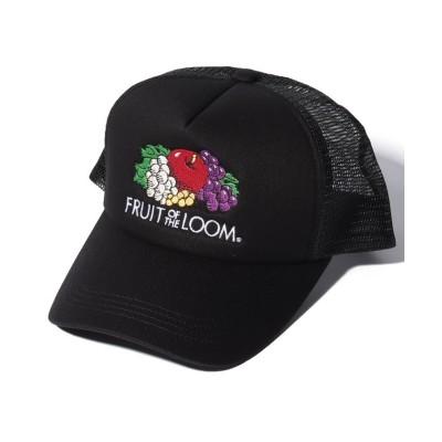(FRUIT OF THE LOOM/フルーツオブザルーム)LOGO MESH CAP/ユニセックス ブラック