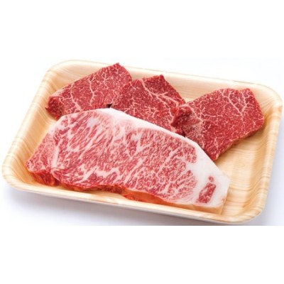 A5飛騨牛ランプステーキ3枚300g、サーロインステーキ1枚200g≪冷凍≫化粧箱入 c509