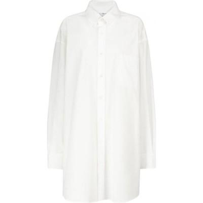 メゾン マルジェラ Maison Margiela レディース ブラウス・シャツ トップス Oversized cotton poplin shirt White