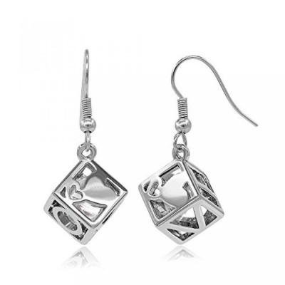 ケムストーン イヤリング Kemstone Silver Tone Hollow Earrings Cubic Dangle Earrings With Cz Crystal Love Jewelry