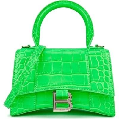 バレンシアガ Balenciaga レディース ハンドバッグ バッグ Hourglass Xs Neon Green Leather Top Handle Bag Green