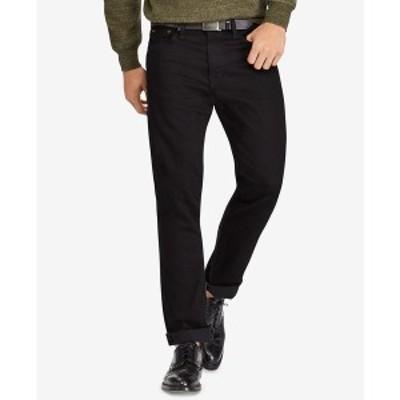 ラルフローレン メンズ デニムパンツ ボトムス Men's Varick Slim Straight Jeans New Hudson Black