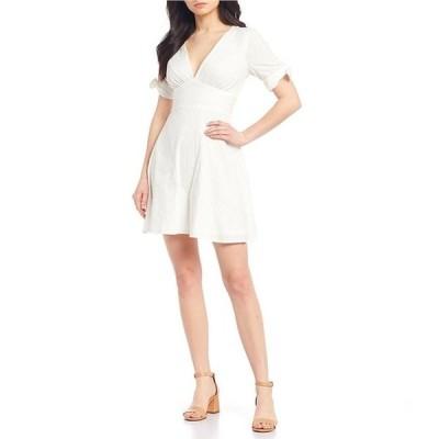 ジービー レディース ワンピース トップス V-Neck Short Sleeve Dress