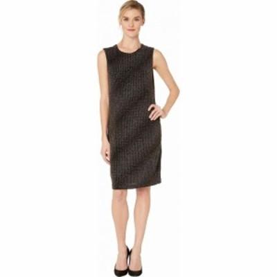 ヴィンス カムート Vince Camuto レディース ワンピース ノースリーブ ワンピース・ドレス Sleeveless Gold Textured Knit Dress Rich Bl