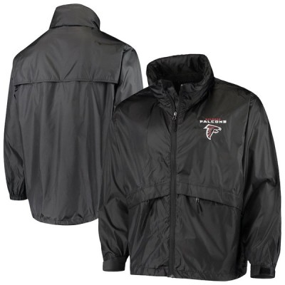 """メンズ ジャケット """"Atlanta Falcons"""" Sportsman Waterproof Packable Full-Zip Jacket - Black"""