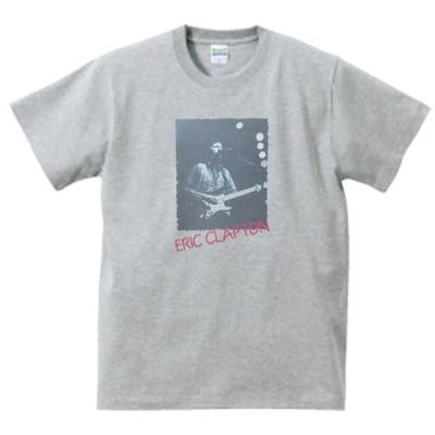 Eric Clapton  エリック・クラ プトン 音楽・ロック・シネマ Tシャツ グレー