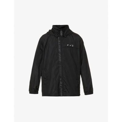 オフホワイト OFF-WHITE C/O VIRGIL ABLOH メンズ ジャケット シェルジャケット アウター Logo-print shell jacket BLACK WHITE