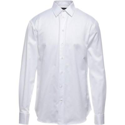 アルマーニ EMPORIO ARMANI メンズ シャツ トップス Solid Color Shirt White