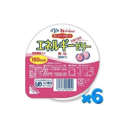 おいしくサポート エネルギーゼリー 梅 98g【6個セット】ハウス食品【YS】