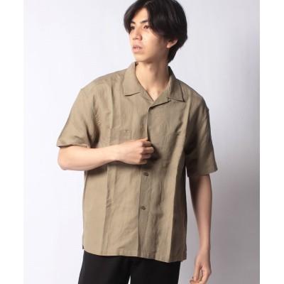 【アーバンリサーチ アウトレット】 リネンレーヨン オープンカラーシャツ メンズ カーキ S URBAN RESEARCH OUTLET