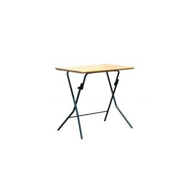 ds-2154578 折りたたみテーブル 【幅75cm ナチュラル×ブラック】 日本製 木製 スチールパイプ 【代引不可】 (ds2154578)