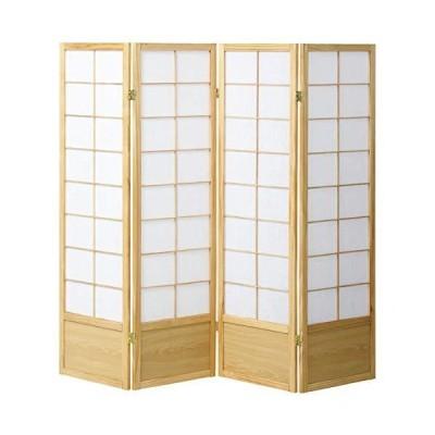 CtoC JAPAN Select パーテーション ナチュラル 幅45cm×奥行2cm×高さ150cm X 4枚