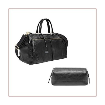 "Fossil Men's Framed Shave Kit Black, 10.3"" L x 6"" W x 5.5"" H and Fossil Men's Defender Duffle Black, One Size"