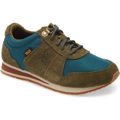 テバ TEVA レディース スニーカー ローカット シューズ・靴 Highside 84 Low Top Sneaker Dark Olive/Teal