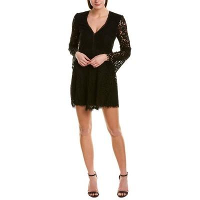 バードット ワンピース トップス レディース Bardot Midnight Lace Mini Dress black