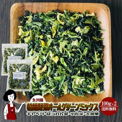乾燥野菜オールグリーンミックス 100g×2 チャック付