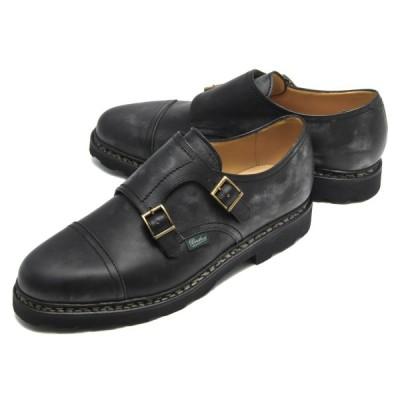 パラブーツ 革靴/ダブルモンクストラップ/ビジネスシューズ シューズ メンズ ウィリアム ブラック WILLIAM NOIRE-LIS NOIR 981412 PARABOOT