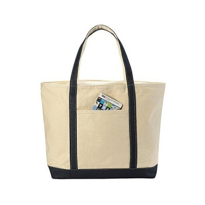 Canvas Tote Beach Bag - These Large Bags Are Strong Enough to Carry Beach Gear and Wet Towels. Front Pocket, Inside Zippered Pocket and Shou