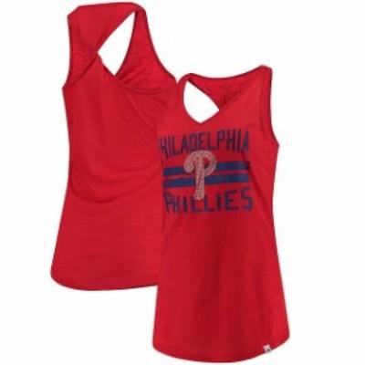 Majestic マジェスティック スポーツ用品  Majestic Philadelphia Phillies Womens Red Four Seamer Tank Top