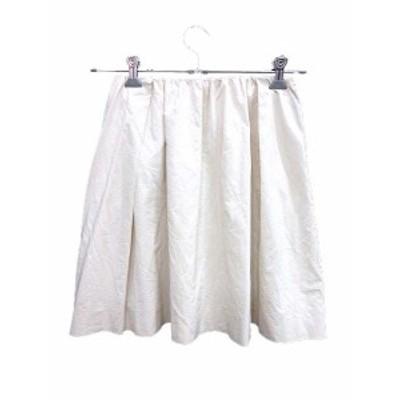 【中古】マカフィー MACPHEE トゥモローランド スカート フレア ミニ ナイロン 34 白 ホワイト /YK レディース