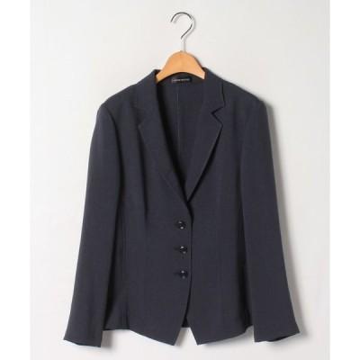 【ラピーヌ ルージュ】【大きいサイズ】トリアセテートブッチャー テーラードジャケット