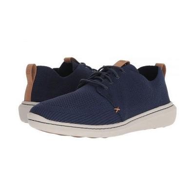 Clarks クラークス メンズ 男性用 シューズ 靴 スニーカー 運動靴 Step Urban Mix - Navy Textile Knit