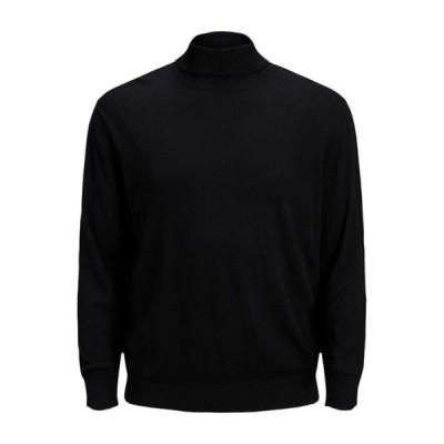 ジャック アンド ジョーンズ パーカー・スウェットシャツ メンズ アウター JJEEMIL ROLL NECK - Sweatshirt - black