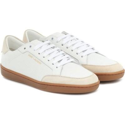 イヴ サンローラン Saint Laurent レディース スニーカー シューズ・靴 Court Classic SL/10 leather sneakers Blanc Optique