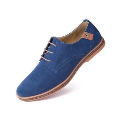 ミオマリオ ドレスシューズ シューズ メンズ Men's Classic Suede Derby Oxford Shoes Navy