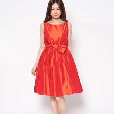 ジュネビビアン Genet Vivien サテンボリューミードレス (オレンジ)
