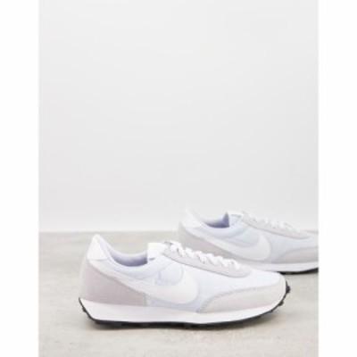 ナイキ Nike レディース スニーカー シューズ・靴 Daybreak trainers in baby blue and white ブラック