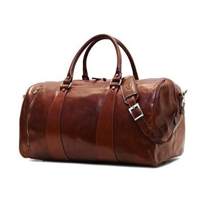 Super Tuscan Leather Duffle Travel Bag Model #1【並行輸入品】