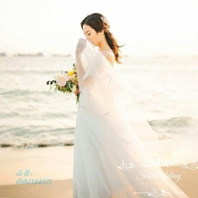 ウエディングドレス 結婚式 二次会 披露宴 演奏会 発表会 前撮り ウェディングドレス 披露宴 前撮り ロングドレス Aラインドレス ドレス お呼ばれ チュール