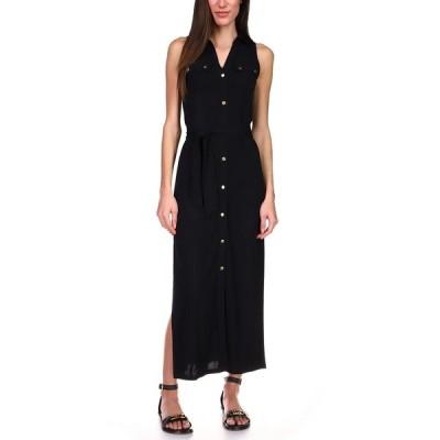 マイケルコース ワンピース トップス レディース Sleeveless Maxi Shirtdress, Regular & Petite Black