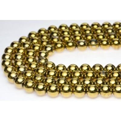 【天然石 丸ビーズ】ゴールデン水晶 10mm (半連 ブレスレット約1本分) パワーストーン