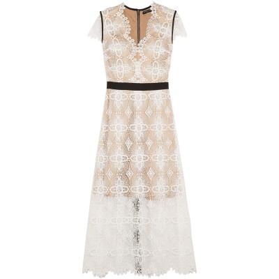CATHERINE DEANE ロングワンピース&ドレス ホワイト 6 ポリエステル 100% ロングワンピース&ドレス