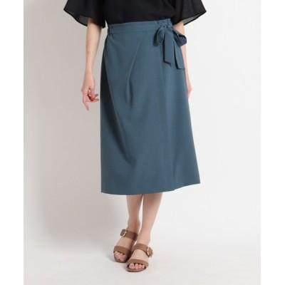 WORLD ONLINE STORE SELECT / 【洗える】ラップ風ストレッチスカート WOMEN スカート > スカート