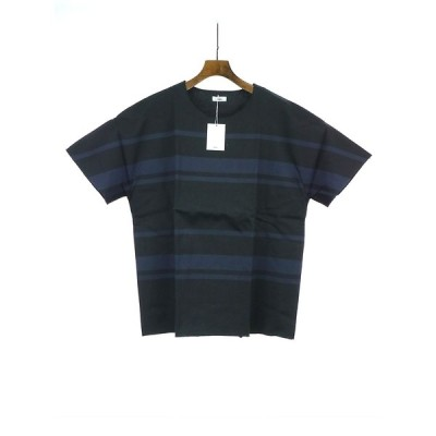tim.ティム Dolman Sleeve Border Tee ボーダーTシャツ ブラック 3 メンズ