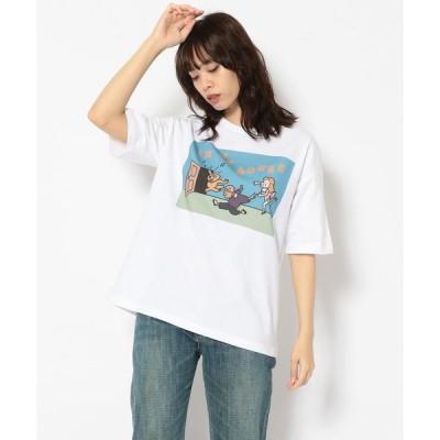 【ビーバー】MASAKA×BEAVER×aimi odawara/マサカ×ビーバー×小田原愛美 別注 WS in da house tee Tシャツ
