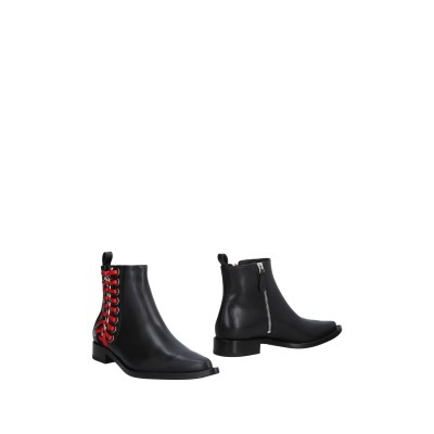 アレキサンダー マックイーン ALEXANDER MCQUEEN ショートブーツ ブラック 35 牛革(カーフ) ショートブーツ