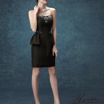 パーティードレス ウェディング ドレス オフショルダー ミニ ペプラム 装飾 ドレス 結婚式 二次会 20代 30代 40代 お取り寄せ