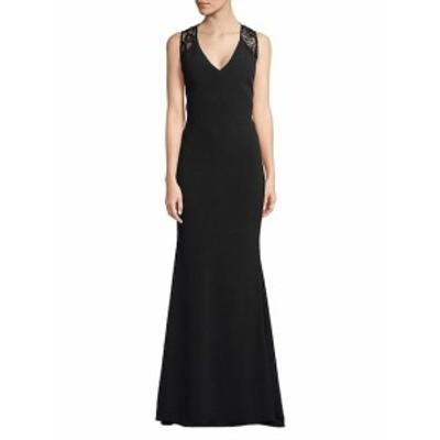 JS コレクションズ レディース ワンピース Floral Lace-Trimmed Floor-Length Dress