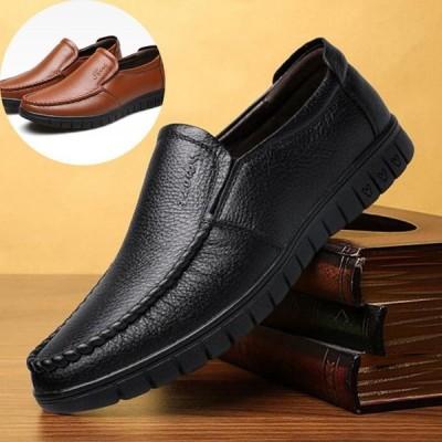 ローファー スリッポン ビジネスシューズ レザー 本革 ウォーキングシューズ メンズ靴 ビジネス フォーマル 紳士靴