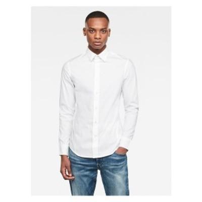 ジースター メンズ シャツ トップス DRESSED SUPER SLIM - Shirt - white white